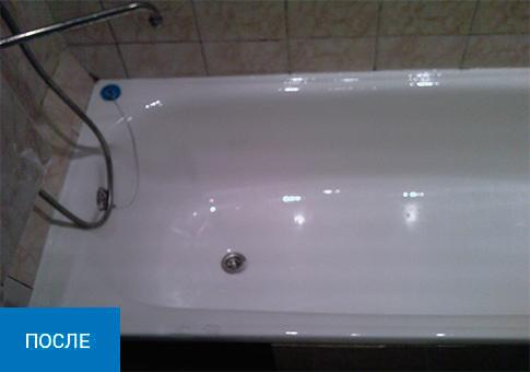 Реставрация стальной, железной ванны.